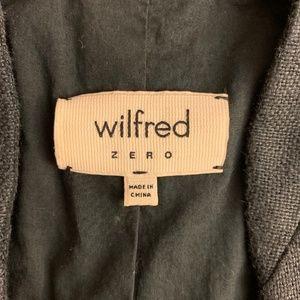Aritzia Jackets & Coats - Aritzia Wilfred Dark Gray/Black Linen CoverUp Vest